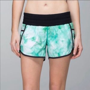 Lululemon Vapor Speed Short Tie Dye Green SZ 6